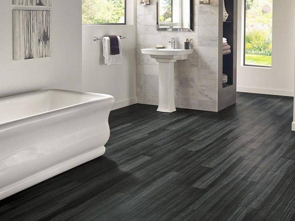 Waterproof vinyl flooring bathroom