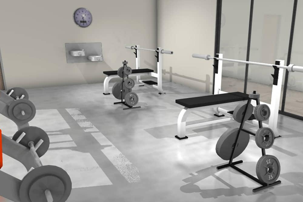 concrete gym flooring in Dubai