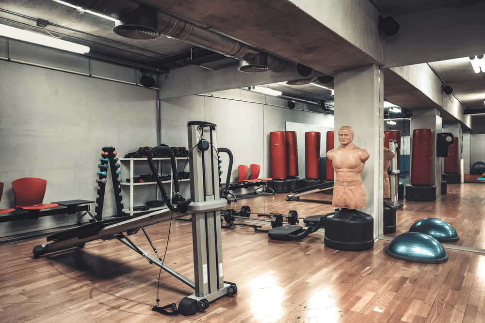 gym wood flooring