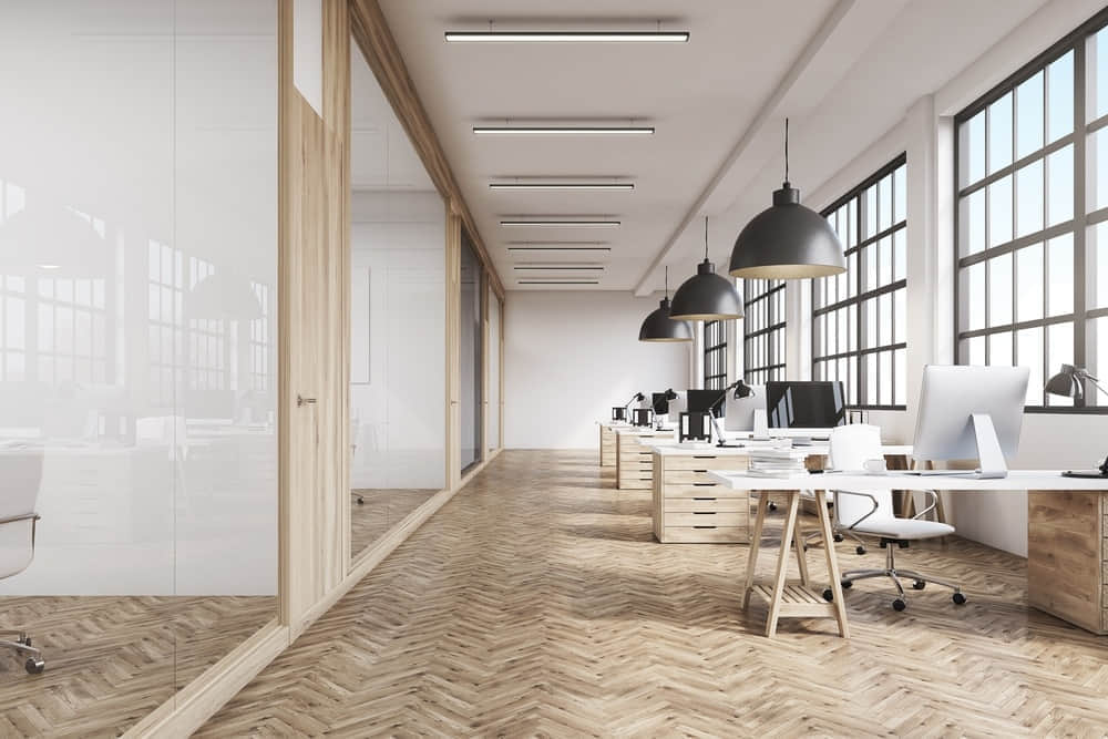 vinyl office flooring