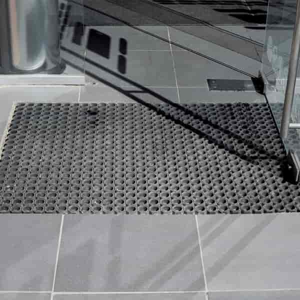 outdoor rubber mat with holes