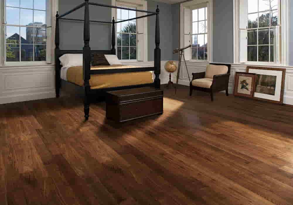 walnut solid wood flooring in Dubai