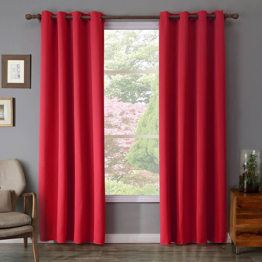 Red Color Blackout curtains